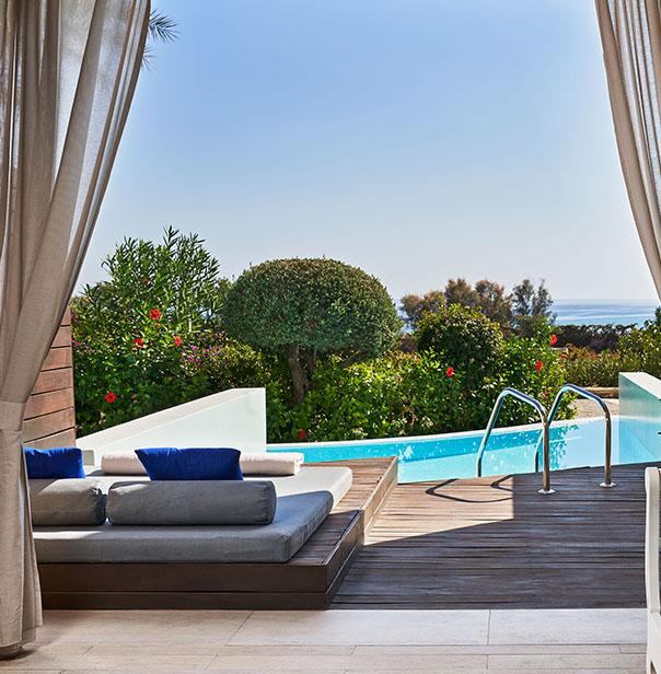 Luxury Resort Hotel in Rhodes - Sea Front Private Pool Suites